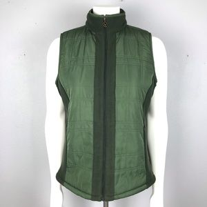 Columbia Green Quilted Vest S